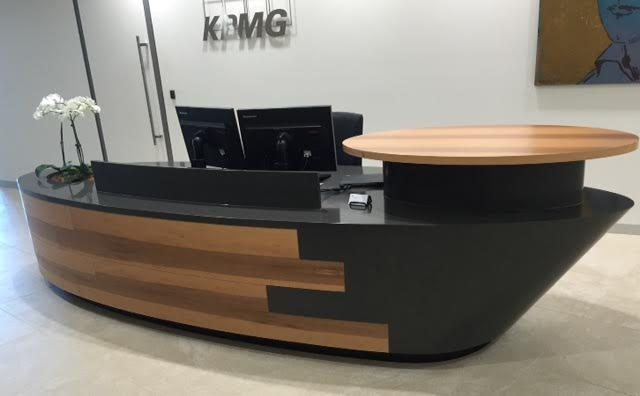 hi macs kpmg reception desk