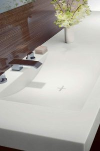 laminex_integrated sink in bathroom vanity