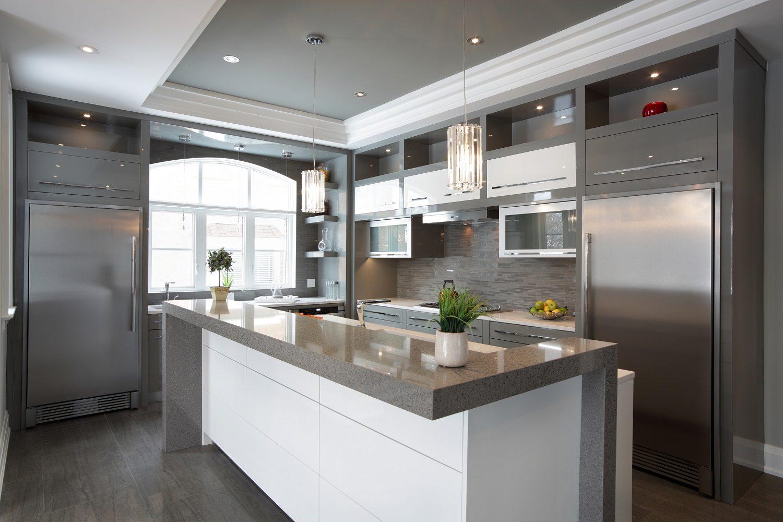 Large Grey Kitchen Countertop